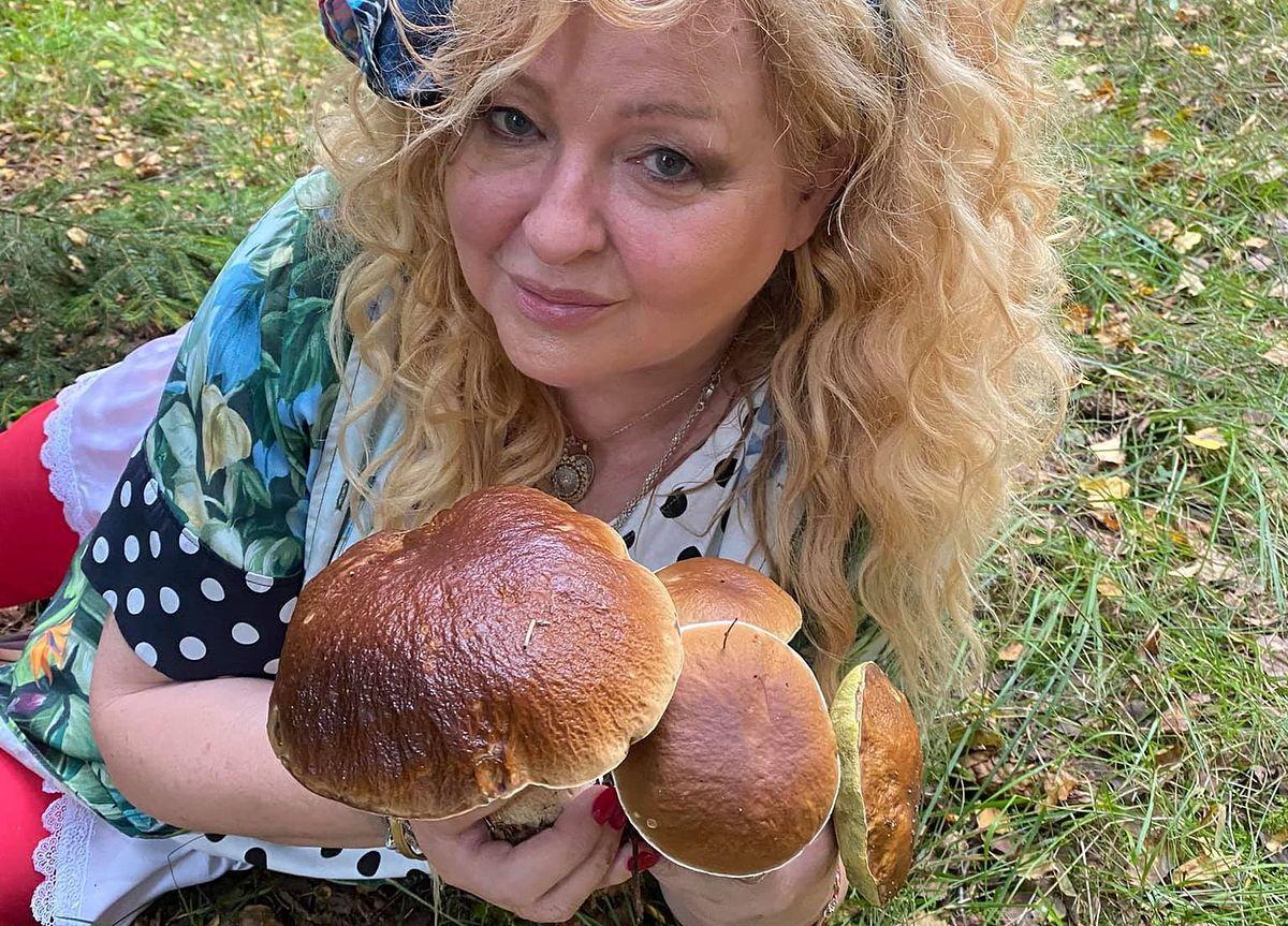 Magda Gessler wybrała się na grzyby