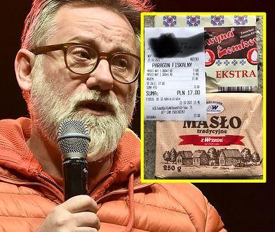 Saramonowicz pokazał rachunek za dwie kostki masła. Ile?!