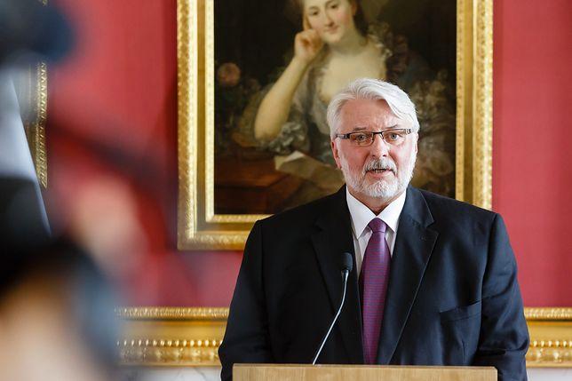 Szef MSZ Witold Waszczykowski.