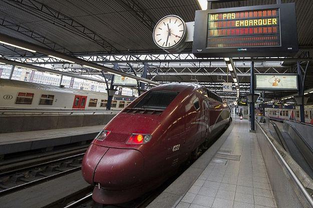 Pociąg Thalys w Brukseli