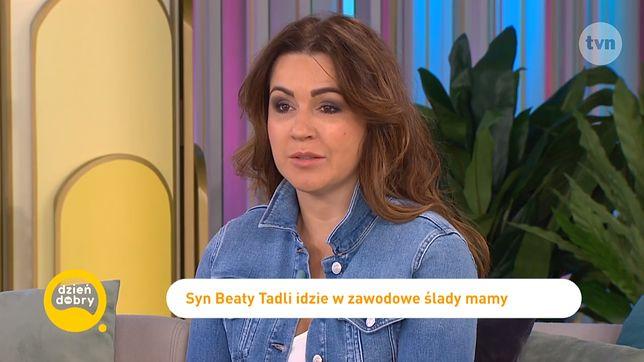 """Beata Tadla zabrała syna do """"Dzień Dobry TVN"""", by opowiadać o jego nowej pracy"""