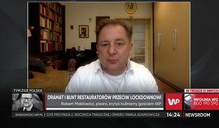 """Robert Makłowicz o sytuacji restauratorów: """"są przypadki samobójstw"""""""
