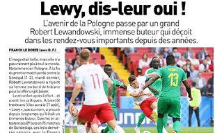 Francuzi zapowiadają mecz Polaków. Jest apel do Lewandowskiego