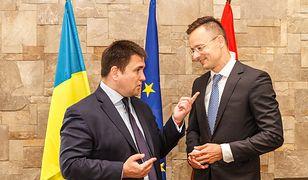 Szefowie dyplomacji Ukrainy i Węgier: Pawło Klimkin i Peter Szijjarto
