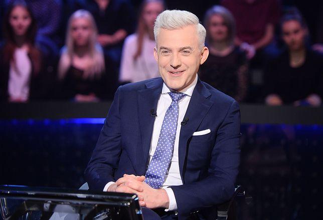 """Hubert Urbański w studiu show """"Milionerzy"""""""