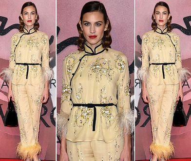 Alexa Chung na gali British Fashion Awards 2016