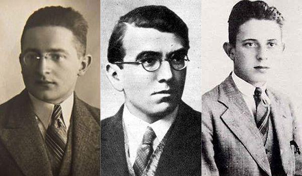 Od lewej: Marian Rejewski, Henryk Zygalski i Jerzy Różycki