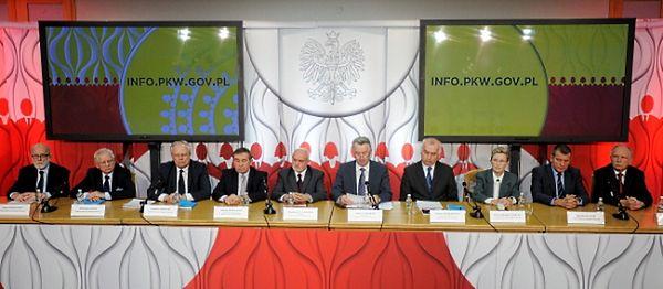 Członkowie PKW: Janusz Niemcewicz, Włodzimierz Ryms, Stanisław Zabłocki, Andrzej Kisielewicz, Kazimierz W. Czaplicki, Stefan Jaworski, Wiesław Kozielewicz, Maria Grzelka, Bogusław Dauter i Andrzej Mączyński