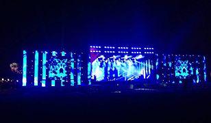 Próba świateł na błoniach Stadionu Narodowego [ZDJĘCIA]