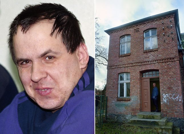 Leszek Pękalski i jego dom w miejscowości Osieki w połowie lat 90.
