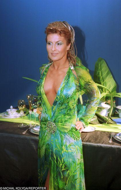 Katarzyna Skrzynecka w sukni od Versace