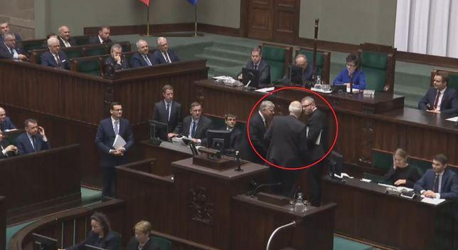 Sejm. Incydent przed expose Mateusza Morawieckiego