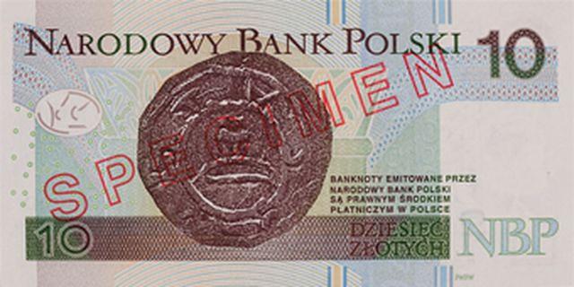 Banknot 10 zł - tył