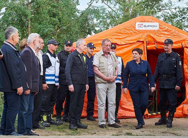 Premier przyjechała we wtorek do najbardziej poszkodowanego rejonu