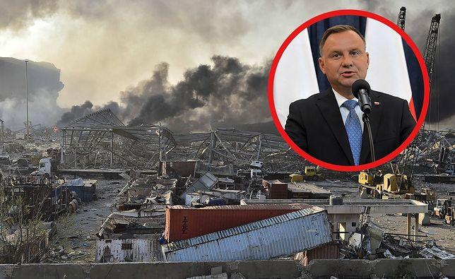 Andrzej Duda zabrał głos ws. tragedii w Bejrucie. We wtorek wieczorem doszło tam do potężnej eksplozji