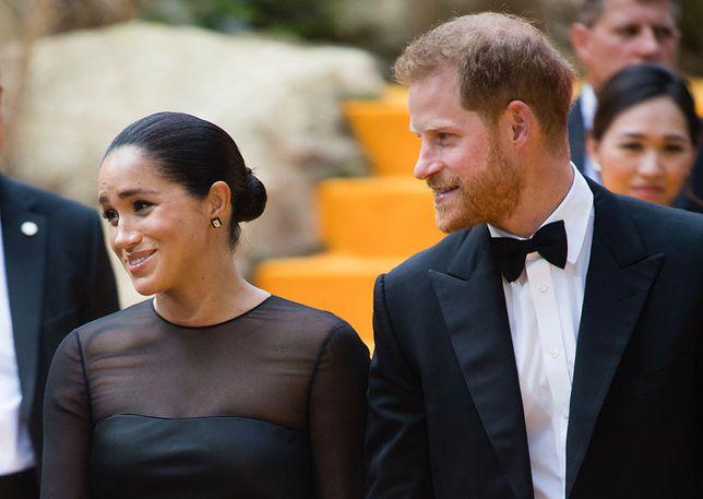 """Meghan Markle i książę Harry na premierze filmu """"Król Lew"""""""