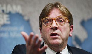 Poseł do Parlamentu Europejskiego Guy Verhofstadt.