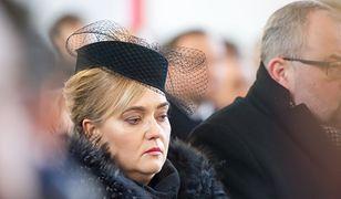 Magdalena Adamowicz w czasie mszy pogrzebowej w Bazylice Mariackiej w Gdańsku