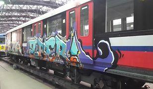 Graffiti na wagonach metra. Wandale poszukiwani