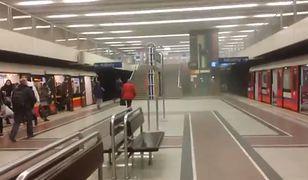 Pożar na stacji Metro Wilanowska