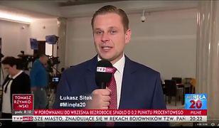 Łukasz Sitek na antenie TVP Info