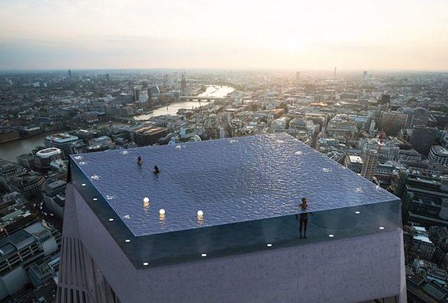 Takiego basenu jeszcze nie było. Infinity edge w Londynie nie będzie miał nawet... wejścia