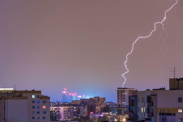 Warszawa. Wieczorem nad stolicą przeszły burze