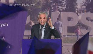 """""""Kaczyński nie jeździł na rowerze"""". Robert Biedroń na konwencji Wiosny"""