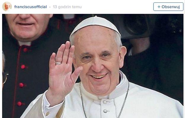 Papież Franciszek ma konto na Instagramie! Wstawił już pierwsze zdjęcia