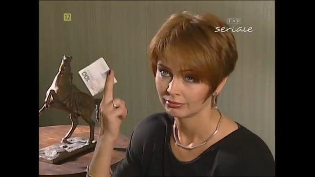 Czy do 100 zł da się kupić konkretny telefon? (zrzut ze serialu Klan, TVP 1997, źródło zdjęcia grupa Beka z Klanu Extra)