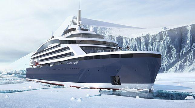 To będzie pierwszy luksusowy lodołamacz. Statek zabierze 270 pasażerów w mroźny rejs