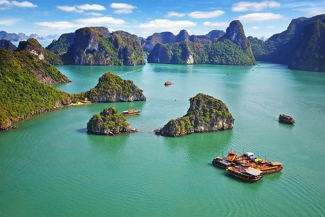 Zatoka Ha Long w Wietnamie