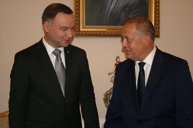 Prezydent Andrzej Duda z wójtem Tuszowa Narodowego Andrzejem Głazem