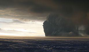Wulkaniczny pył po erupcji wulkanu Grímsvötn w 2011 roku.