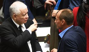 Jarosław Kaczyński i Paweł Kukiz - przyszli koalicjanci?