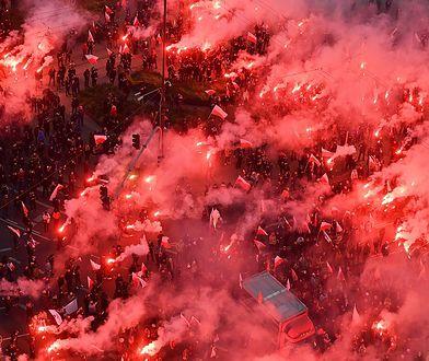 Race, których prawdopodobnie użyto do podpalenia mieszkania w trakcie marszu, to od lat nieoficjalny symbol obchodów Narodowego Święta Niepodległości