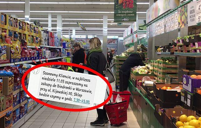 Klienci Biedronki otrzymali SMS-y z adresem otwartego sklepu