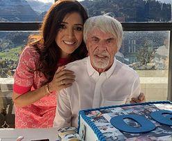 Co za zdjęcie! 90-letni były szef Formuły 1 pokazał swojego półrocznego syna