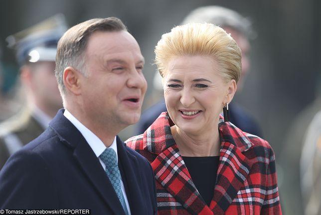 Agata Kornhauser-Duda na uroczystości Pułku Reprezentacyjnego WP