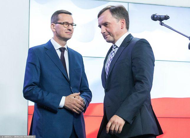 Zbigniew Ziobro nie zgadza się na kompromis wypracowany przez Mateusza Morawieckiego
