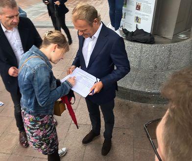 Wybory 2020. Donald Tusk zbiera podpisy dla Rafała Trzaskowskiego