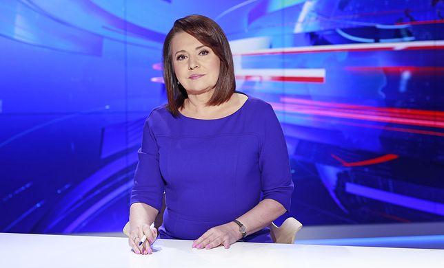 """Danuta Holecka, jedna z prezenterek głównych wydań """"Wiadomości"""" TVP"""