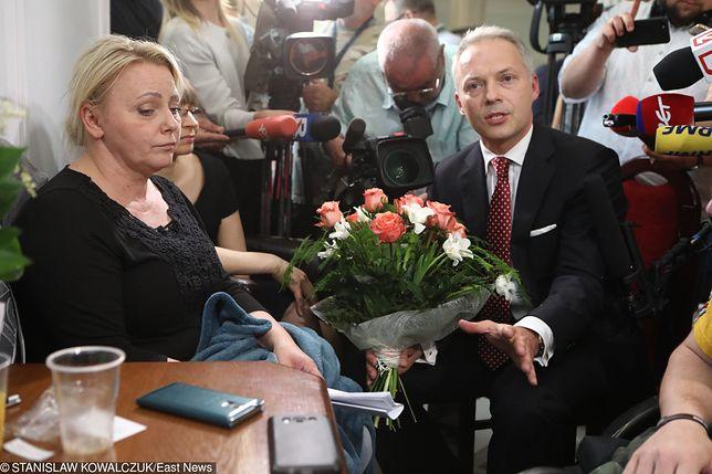 Jacek Żalek już wcześniej przepraszał za swoje słowa protestujących z ich liderką Iwoną Hartwich