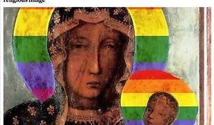 """""""Maryja z tęczą"""". Ten plakat obiegł światowe media, które cytują Kaczyńskiego"""