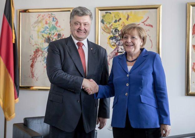 Petro Poroszenko i Angela Merkel