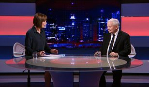 Prezes PiS Jarosław Kaczyński w rozmowie z Dorotą Gawryluk