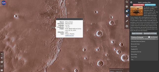 NASA przedstawia marsjańską wersję Google Earth