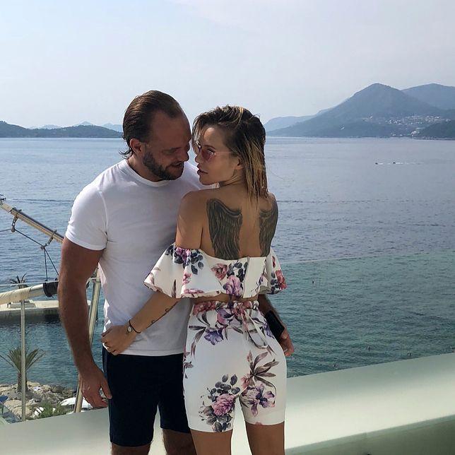 Dorota Rabczewska-Stępień z mężem Emilem.