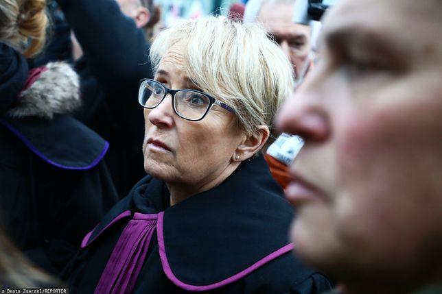 Sędzia Beata Morawiec podczas marszu tysiąca tóg (zdj. arch.)