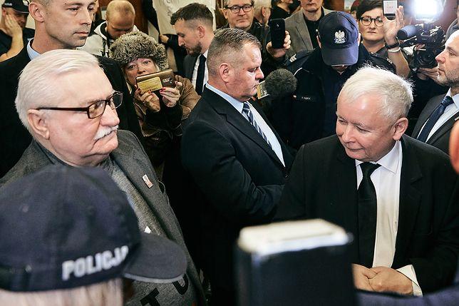 Jarosław Kaczyński i Lech Wałęsa w sądzie. Minuta po minucie